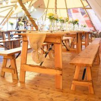 Solid Wooden Rustic Benches